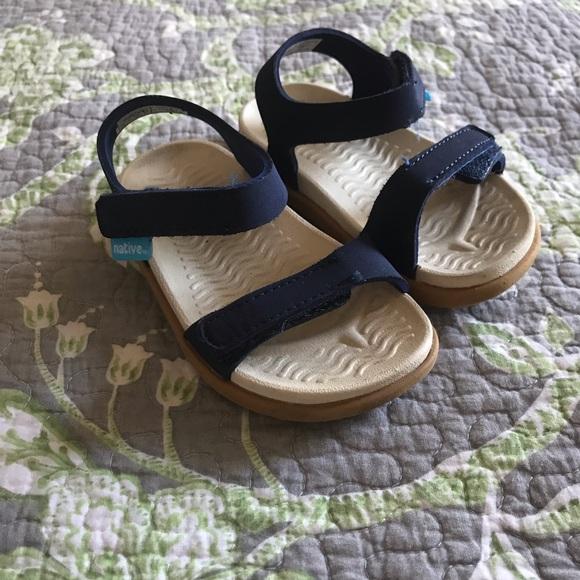 ab399ae34fc398 Native Charley Unisex Sandals - Navy Blue